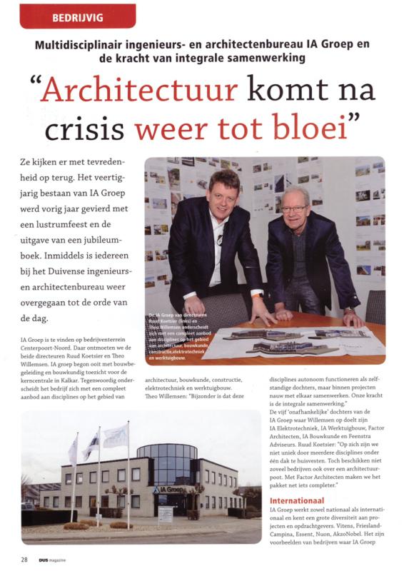 DUS magazine artikel IA Groep