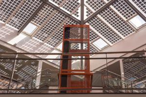 Atrium met zonnepanelen